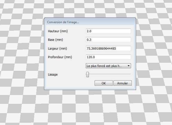 paramétrage logiciel Cura